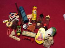 Large Assortment of Antique Baby Toys and More