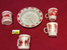 Vintage Child's Breakfast Bowl and Cup Set