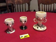 Japanese sake set and plum wine cup - Pre-WWII