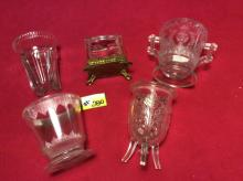 Misc. Antique Glass - (5) For One Money