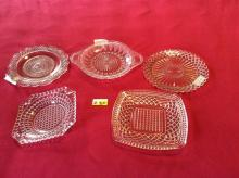(5) Antique Glass Pieces - All for One Money
