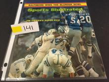 1971 Sports Illustrated Cover AUTOGRAPHED by Chuck Howley