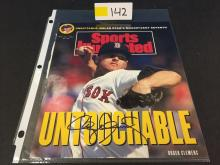 1991 Sports Illustrated Cover AUTOGRAPHED by Roger Clemens