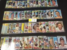 1966-1967 Topps Baseball Card Collection (66 cards) - all for one money