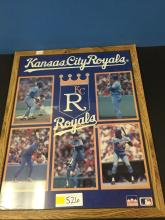 Large KC Royals Framed/Matted Picture