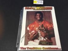 AUTOGRAPHED Ricky Williams Heisman Trophy Cardstock Cover
