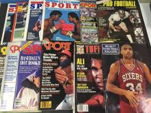 (4) Sport, (4) Inside Sports, & (4) miscellaneous sports Magazines - all for one money