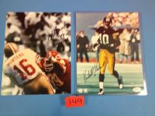 (2) Autographed Photos (Kordell Stewart & Mike Bell) - All For One Money