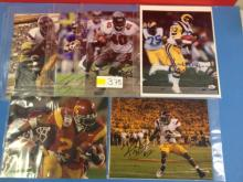 (6) Autographed NFL Photographs (some with COAs) - All For One Money