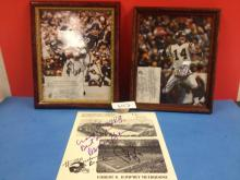 (3) Autographed Photographs (Various Vikings/Johnson/Foreman) - All For One Money