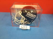 Phil Simms Signed Riddell Authority Mini-Helmet with COA