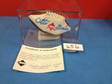 Otto Graham Signed Mini Football with COA