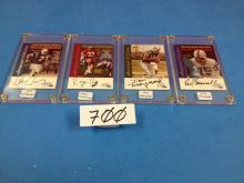 (4) 1999 Time, Inc. Football Cards Autographed (Jones/Craig/Maynard/Morrall) - All For One Money