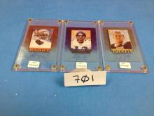 (3) 1997 Pinnacle Football Cards Autographed (Everett/Testaverde/Blake) - All For One Money