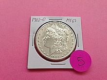 1902-O Morgan Dollar MS63!