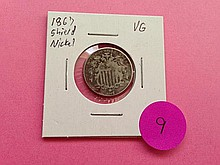 1867 Shield Nickel VG!