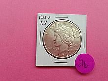 1923-S Peace Dollar AU!