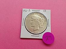 1922-D Peace Dollar VF!
