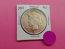 1922 Peace Dollar AU+