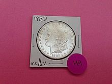 1882 Morgan Dollar MS62!