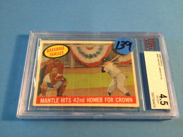 1959 Topps #461 Mickey Mantle Graded 4.5 VG-EXT