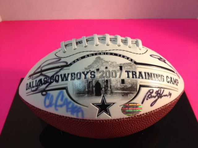 2007 Cowboys Training Camp Football - 11 Autographs - Demarcus, Ware, Whitten w/COA
