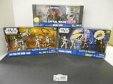 (3) Star Wars (Clone Wars) Battle Packs N.I.B. for one money