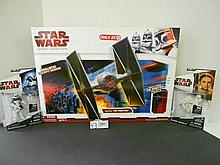 (3) Star wars Legacy Collection Tie Fighter and (2) Figures N.I.B. for one money