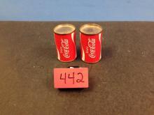 Vintage (Coca Cola Cans) Salt and Pepper Shaker Set