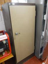 Metal office cabinet with key