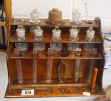 Small Apothecary cabinet and contents