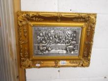 'Last Supper' pewter plaque
