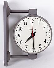 A Simplex Double Sided Industrial Clock