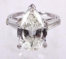A 6 Carat Diamond and Platinum Ring