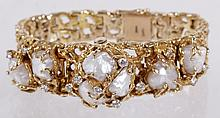 A Lady's 14K Gold, Diamond and Pearl Watch by Heirloom