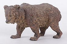 A Large Austrian Cold Painted Bronze Bear