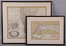 Two 18th Century Maps, South America and North Africa