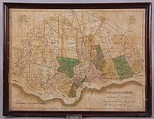 Rare 1826 Pocket Map of Philadelphia and Environs, Henry Tanner
