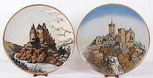Two Mettlach Pottery Wall Plaques