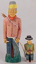 Johnson Antonio (Native American, b. 1931 - )Two Wood Carvings