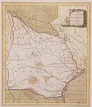 18th Century Map of Georgia, John Hinton