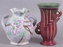 Two American Pottery Vases, Weller, Fulper