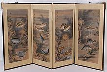 A Korean Four Panel Screen