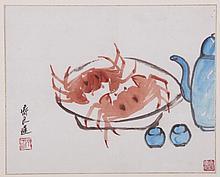 Qi LiangChi (1921-2003) Watercolor