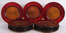 A Set of Mid Century Glass Plates