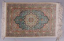 A Fine Modern Silk Persian Mat
