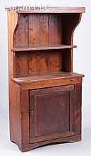 A Child's Size American Softwood Stepback Cupboard