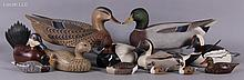 A Group of Duck Decoys Including Two Examples by