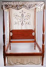 An American Federal Period Cherry High Poster Bed