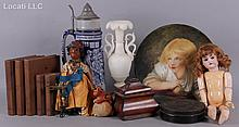 Estate Lot: Various Items Including Dolls and Sewing Bird, Etc...